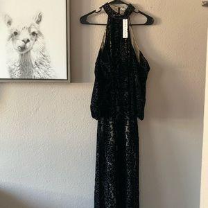 NWT Alice + Olivia Midi Cold Shoulder Dress
